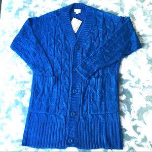 LuLaRoe Lucille Cardigan Small NWT cobalt blue